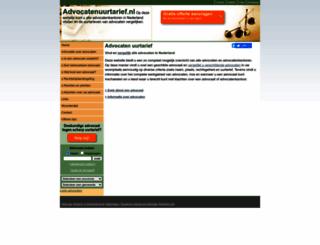advocatenuurtarief.nl screenshot