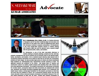 advocateselvakumar.com screenshot