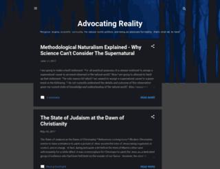 advocatingreality.blogspot.com screenshot