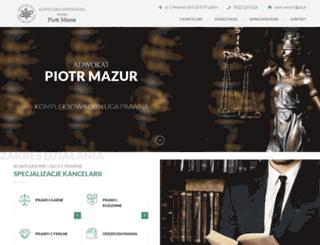adwokat-mazur.pl screenshot