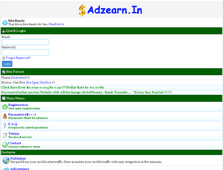 adzearn.in screenshot