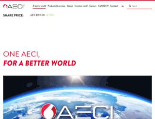 aeci.co.za screenshot