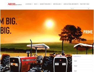 aecotractorparts.com screenshot
