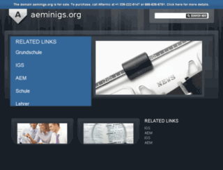 aeminigs.org screenshot