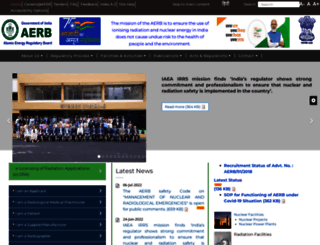 aerb.gov.in screenshot