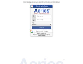 aeries.fsusd.org screenshot