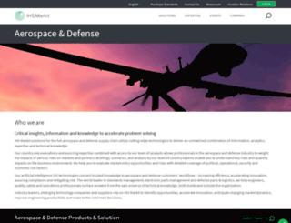 aero-defense.ihs.com screenshot
