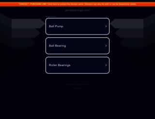 aerobearings.com screenshot