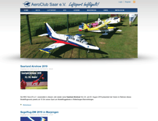 aeroclub-saar.de screenshot