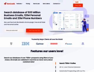 aeroleads.com screenshot