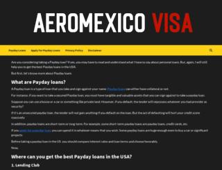 aeromexicovisa.com screenshot