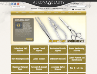 aeronabeauty.com screenshot