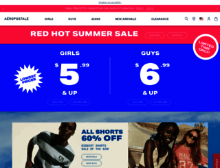 aeropostale.com screenshot