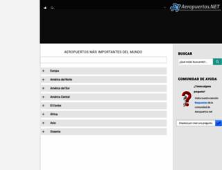 aeropuertos.net screenshot