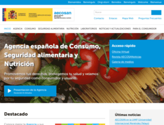 aesan.msssi.gob.es screenshot