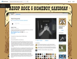 aesoprockhomeboysandman.bandcamp.com screenshot