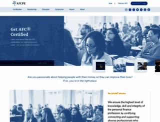 afcpe.org screenshot