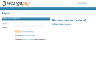 aff.recarga.com screenshot