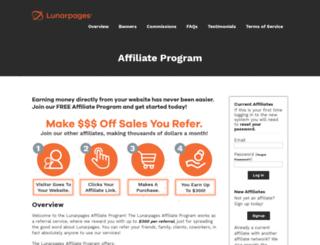 affiliate.lunarpages.com screenshot