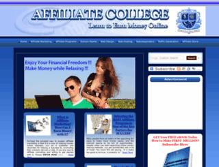 affiliatecollege.org screenshot