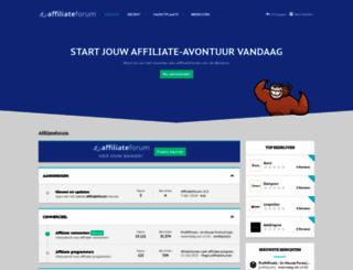 affiliateforum.nl screenshot