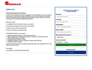 affiliates-centre.quotezone.co.uk screenshot