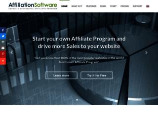 affiliationsoftware.com screenshot