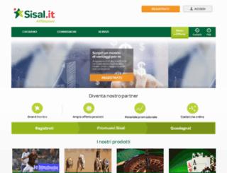 affiliazione.sisal.it screenshot