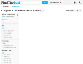 affordable-care-plans.findthebest.com screenshot