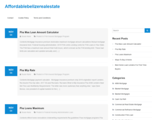 affordablebelizerealestate.com screenshot
