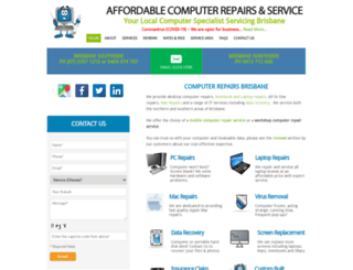 affordablecomputerrepairs.com.au screenshot
