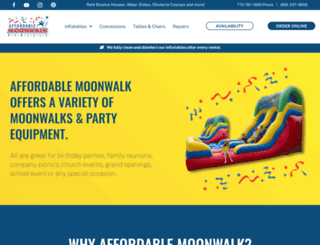 affordablemoonwalk.com screenshot