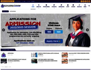 afit.edu.ng screenshot