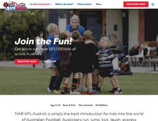 aflauskick.com.au screenshot