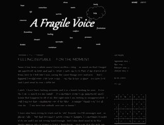 afragilevoice.wordpress.com screenshot