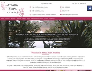 afraliaflora.co.za screenshot