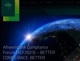afreximbank.com screenshot