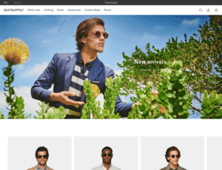 africa.suitsupply.com screenshot