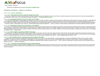 africafocus.org screenshot