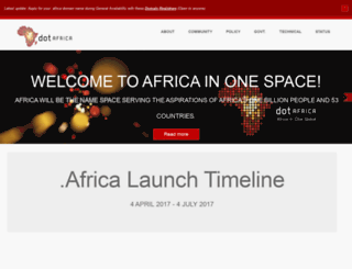 africainonespace.org screenshot
