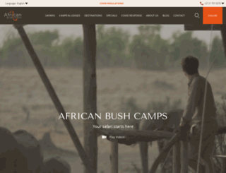 africanbushcamps.com screenshot
