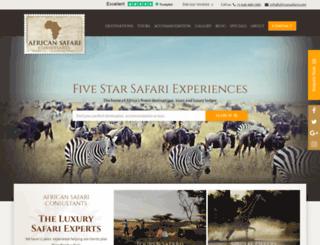 africansafaris.com screenshot