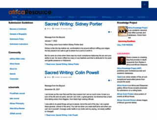 africaresource.com screenshot