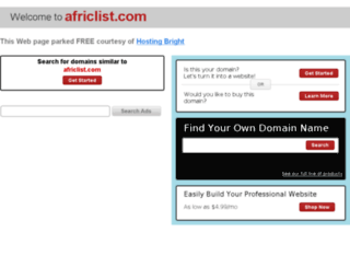 africlist.com screenshot