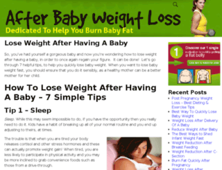 afterbabyweightloss.com screenshot