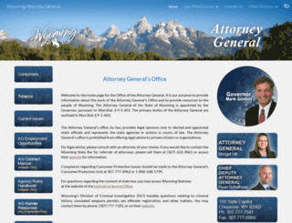 ag.wyo.gov screenshot