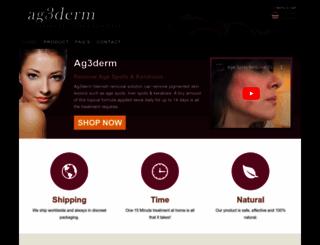 ag3derm.com screenshot