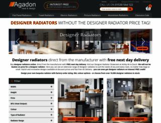 agadondesignerradiators.co.uk screenshot