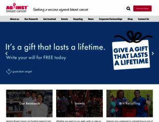 againstbreastcancer.org.uk screenshot