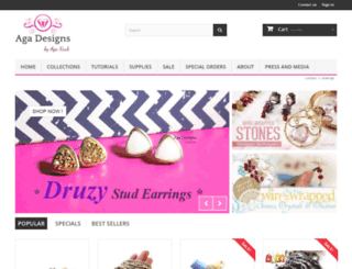 agajewelrydesigns.com screenshot